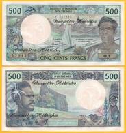 New Hebrides 500 Francs P-19c 1979 AUNC Banknote - Andere - Oceanië