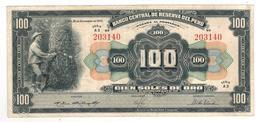 Peru 100 Soles, 1950. XF. - Peru