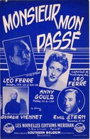 LEO FERRE / ANNY GOULD / GEORGIE VIENNET - MONSIEUR MON PASSE  - 1955 - EXC ETAT - - Musica & Strumenti