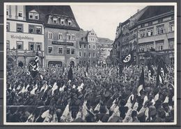 Deutschland Erwacht Sammelwerk Nr. 8: Sammelbild Nr. 100, Gruppe 33, Kundgebung Auf Dem Historischen Marktplatz - Cigarette Cards