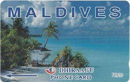 Maldives - Dhiraagu (GPT) - Beach - 68MLDA (Letterings Type#1), 1993, Used - Maldiven