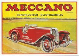 Publicité Jouets Meccano Constructeur D' Automobiles - Jeux Et Jouets