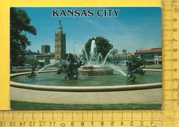 CPM  ETATS-UNIS, K.S. , KANSAS CITY : Nichols Memorial Fountain - Kansas City – Kansas