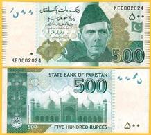 Pakistan 500 Rupees P-49A 2019(2) New Signature UNC Banknote - Pakistán
