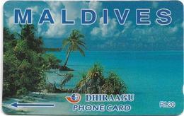 Maldives - Dhiraagu (GPT) - Beach - 160MLDA - Used - Maldiven