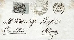 ESTATO - PONTIFICATUS  -  Michel 1852 -  Stemma Papale  - 2 Scans - Stato Pontificio