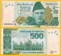 Pakistan 500 Rupees P-49A 2018 UNC - Pakistán