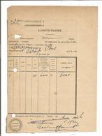 VP.0667/ Pons - Charente-Maritime - Epicerie Sarrazin - Laissez-Passer Pour Allumettes - Angoulème - Documents Historiques