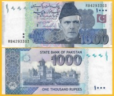 Pakistan 1000 Rupees P-50 2019(1) UNC Banknote - Pakistán