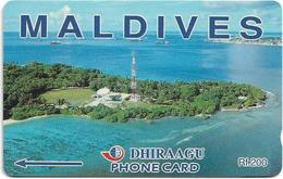 Maldives - Dhiraagu (GPT) - Communication Tower - 1MLDB - 1993, 4.000ex, Used - Maldiven