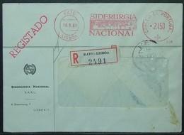 Portugal - Registered Meter Franking Cover 1961 Steel - 1910-... Republic