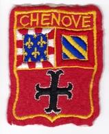 Ecusson Tissu - Chenôve (21) - Blason - Armoiries - Héraldique - Ecussons Tissu