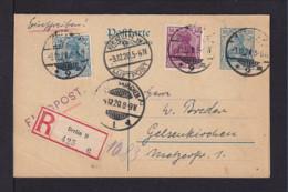 1920 - 30 Pf. Doppel-Ganzsache Als Flugpost-Einschreiben Ab Berlin Nach Gelsenkirchen - Ohne Text - Allemagne