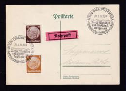 1939 - Rohrpost-Sonderstempel Berlin..Berge, Menschen.. - Rohrpost-Ortskarte - Allemagne