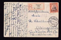 1914 - 30 Pf. Auf Einschreibkarte Ab ATAKPAME Nach Elbing - Colonie: Togo