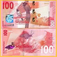 Seychelles 100 Rupees P-50 2016 UNC Banknote - Seychelles