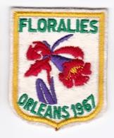 Ecusson Tissu - Orléans (45)  Floralies 1967 - Blason - Armoiries - Héraldique - Blazoenen (textiel)