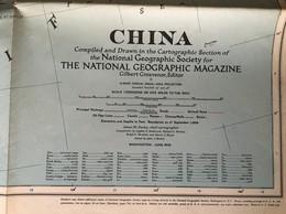 CARTE De La CHINE - The National Geographic Magazine - Grosvenor Editor - Juin 1945 - Geographische Kaarten