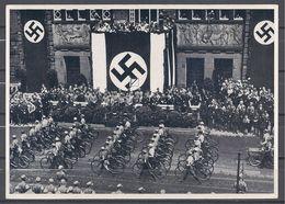 Deutschland Erwacht Sammelwerk Nr. 8: Sammelbild Nr. 154, Gruppe 33, SA-Aufmarsch In Dortmund 1933 - Cigarette Cards