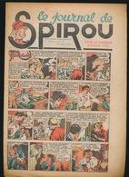 LE JOURNAL DE SPIROU N° 25  24 JUIN 1943  GOEDE STAAT  BON ETAT - PAPIER TRES DEFICILE   2 SCANS - Spirou Magazine