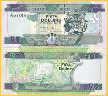 Solomon Islands 50 Dollars P-24 2001 UNC Banknote - Isola Salomon