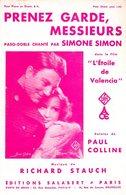 JEAN GABIN / SIMONE SIMON - PRENEZ GARDE MESSIEURS DU FILM ETOILE DE VALENCIA  - 1933 - SUPERBE ETAT COMME NEUF - - Compositori Di Musica Di Cinema