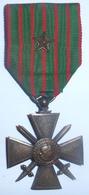 Médaille Croix De Guerre 1914-1917 Avec Une Citation / Poilu / WW1 / 14-18 - Frankrijk