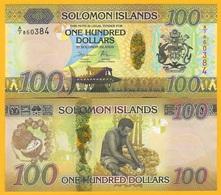 Solomon Islands 100 Dollars P-36(2) 2015 Prefix A/7 UNC Banknote - Isla Salomon