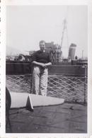 PHOTO ORIGINALE 39 / 45 WW2 MARINE FRANCAISE 1940 TOULON LES BATEAUX A QUAI - Guerre, Militaire