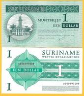 Suriname 1 Dollar P-155 2004 UNC Banknote - Suriname