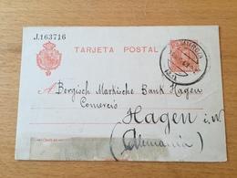 GÄ29533 Spanien Ganzsache Stationery Entier Postal P 43I Von Murcia Nach Hagen - Entiers Postaux