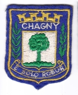 Ecusson Tissu - Chagny (71) - Blason - Armoiries - Héraldique - Ecussons Tissu
