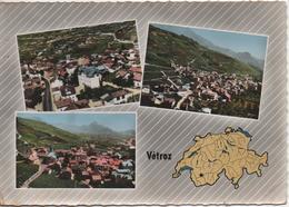 SUISSE  VETROZ  EN AVION AU DESSUS - VS Wallis