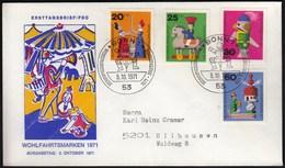 Germany Bonn 1971 / Toys / Wohlfahrtsmarken / Welfare Stamp / FDC - Puppen