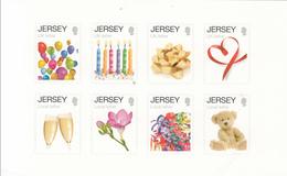 2012 Jersey Greetings Teddy Bears Wine Flowers Miniature Sheet Of 8 MNH @ BELOW FACE VALUE ** CORNER WRINKLE** - Jersey