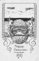 SAULAINE KAUCMINDE KAUTZMÜNDE 1917  FRÖHLICHE OSTERN Aus Dem FELDE (Joyeuses Pâques) OEUF LAPINS - Lettland