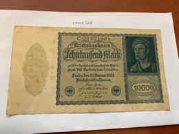 Germany 10000 Marks Banknote 1922 - [ 3] 1918-1933 : República De Weimar