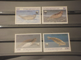 Turkhemistan - 1993 Wwf Foche 4 Valori - Nuovi(++) - Turkmenistan