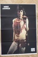 SP-2 / Rare Poster 1973 De  Mick Jagger , ( The Rolling ) Né Le 26 Juillet 1943 à Dartford (Kent, Angleter.forma 60x43cm - Musique