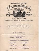 COMPAGNIE BELGE - ASSURANCES GENERALES SUR LA VIE - FONDS DOTAUX - SURVIVANCES - 1931-1946 - Bank & Insurance