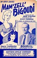 BOURVIL - PARTITION MAM'ZELLE BIGOUDI - 1956 - TB ETAT - - Music & Instruments
