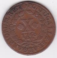 Portugal 10 Reis 1760, Jose I, KM# 243.1 - Portugal