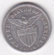 Philippines U.S.A. Administration. 10 Centavos 1918 S. Argent. KM# 169 - Philippines