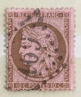 YT 58 (°) Obl III République 1871-75 10c Cérès Petits Chiffres (côte 13 Euros) - 1871-1875 Ceres