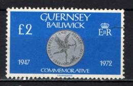 GUERNSEY - 1980 - MONETE DI GUERNSEY: GIUBILEO DEL 1972 - USATO - Guernesey