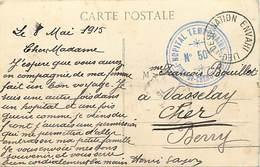 Ref Y300- Guerre 1914-18- Santé - Marcophilie - Cachets -cachet Hopital Temporaire No 50-pont De Cheruy -isere - - WW I
