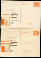 DDR P86II-37-88 C37 I+II Postkarten Zudruck KOLLOQUIUM KLEINKLÄRANLAGEN Weimar 1988 - [6] Repubblica Democratica
