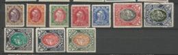Danzig  1920 Mi.Nr.: 53-62 Danzig Proclamation Set.  Mint Hinged X, 2 M. Cancelled O - Danzig