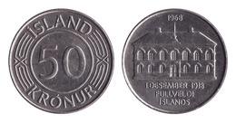 Iceland / 1968 / 50 Kronur / Km: 16 / XF - Islande