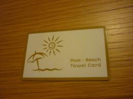 Greece Crete Chania Minoa Palace Hotel Towel Card - Cartes D'hotel